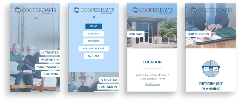 CooperDavis Financial Group mobile site preview