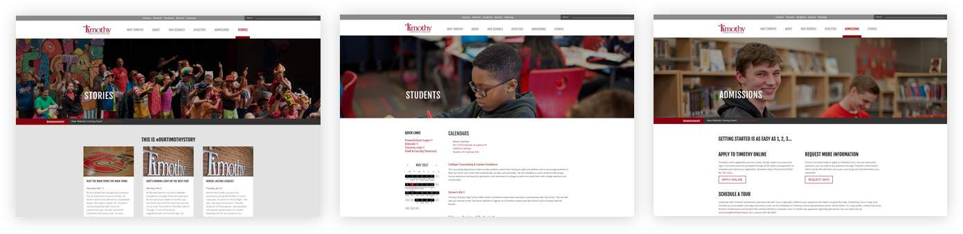 Timothy Christian site preview